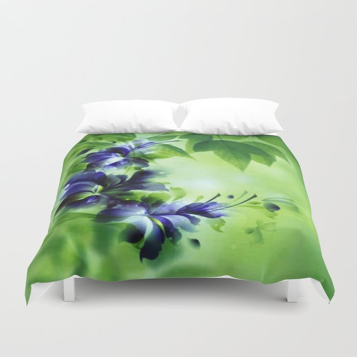 Cascading Bouquet Abstract Duvet Cover