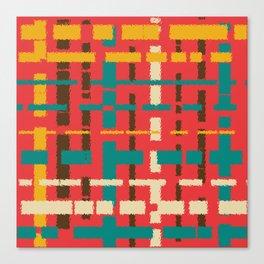 Colorful line segments Canvas Print