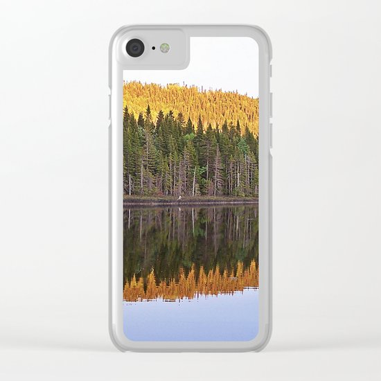 Fall Forest Reflected Clear iPhone Case