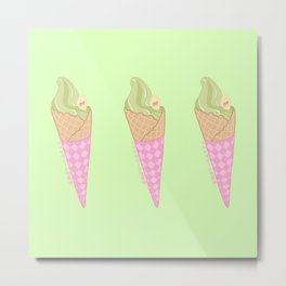 I Like Soft Serve Matcha Metal Print