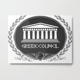 GREEK LUXORY COUNCIL Metal Print