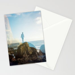 Boy on the California Coast - Film Double Exposure Stationery Cards