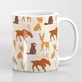 Forest Animal Pattern Coffee Mug