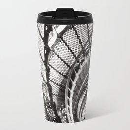 Spiral staircase black and white Travel Mug