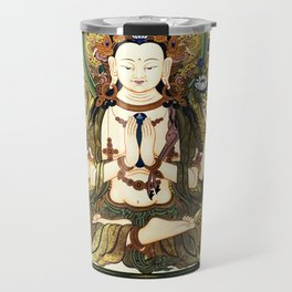 Chenrezig Avalokitesvara Bodhisattva Tibetan Buddhist Gray Travel Mug