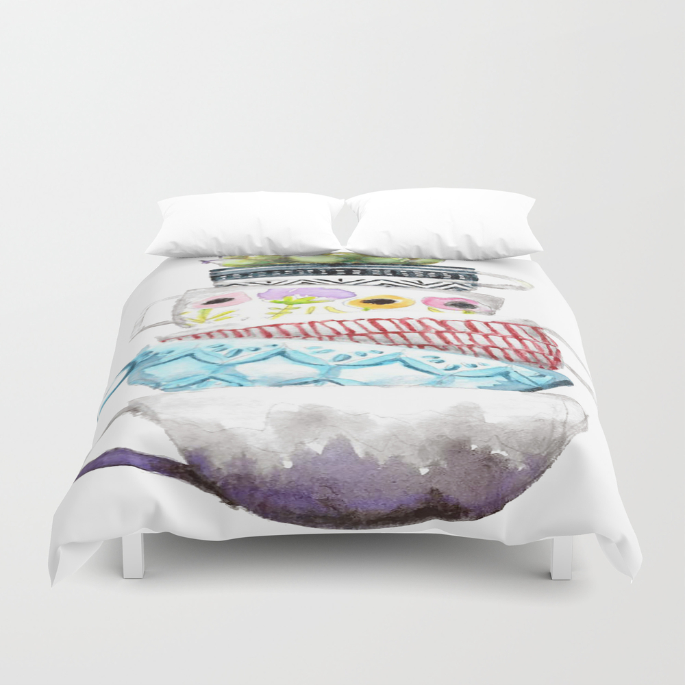 Cups On Cups On Cups Duvet Cover by Hapticdrifter DUV8656197