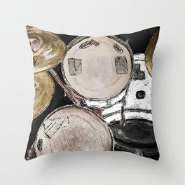 drum set, ready to rock Throw Pillow