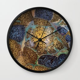Golden starburst Wall Clock
