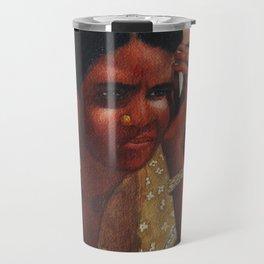 Thinking Deep, Indian Women - in Watercolor Travel Mug