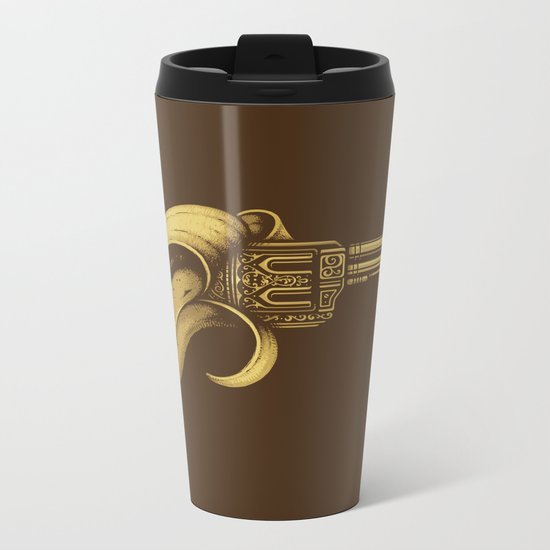 Banana Gun Metal Travel Mug