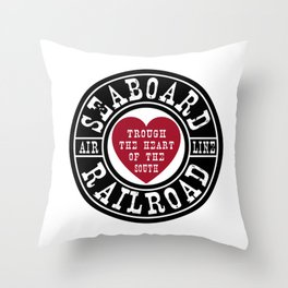 Seaboard Railroad Throw Pillow