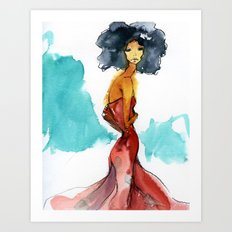 SUCH A LADY. Art Print