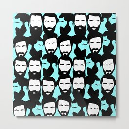 beards are sexy Metal Print