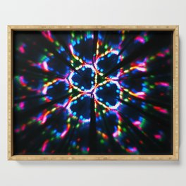Abstract kaleidoscopic image. fractal pattern made with reflections. Serving Tray