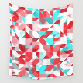 Staccato Red Wall Tapestry
