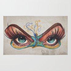 Butterflies eyes Rug