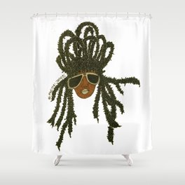 Crown of Locs Shower Curtain