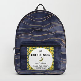 Be like the moon - back to school inspirational Backpack