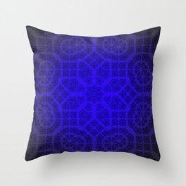 Blue Octogon Star Throw Pillow