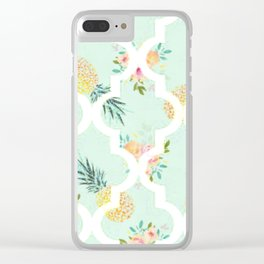 Sweet Pineapples Clear iPhone Case