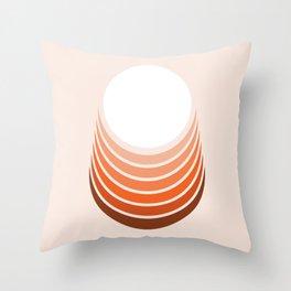 Red Rock Crescent Throw Pillow