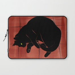 Olivia, the cat on the porch Laptop Sleeve