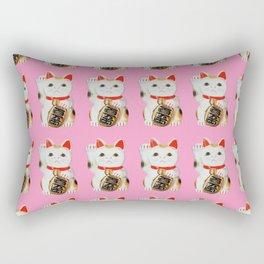 MANEKINEKO CAT PINK PATTERN Rectangular Pillow