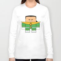 power rangers Long Sleeve T-shirts featuring Mighty Morphin Power Rangers - The Original Green Ranger Unmasked (Tommy) by Choo Koon Designs