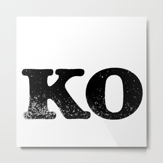 KO Metal Print