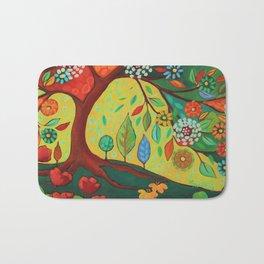 Folk Art Tree Bath Mat
