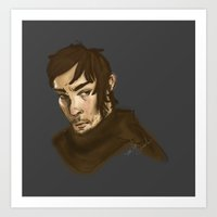 daryl dixon Art Prints featuring Daryl Dixon by strangerlace