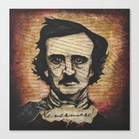 poe Canvas Prints featuring Poe by Colunga-Art
