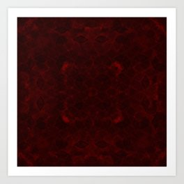Romantic Red Pattern for Love and Horror Art Print