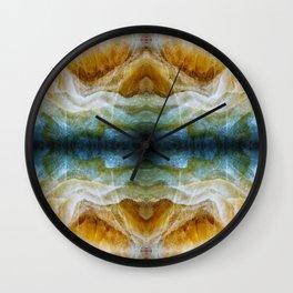 Abstract Mineral Crystal Texture Wall Clock