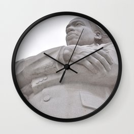 DC Celebrity Grayscale Photography Wall Clock