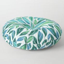 Summertime Blues Leaf Burst Floor Pillow