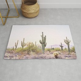Cactus In The Desert Rug