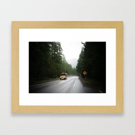 On the way to school - Oregon Framed Art Print