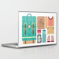 tote bag Laptop & iPad Skins featuring Pack Your bag and Go Everywhere by MASKCROW