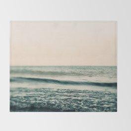 Turquoise Morning Throw Blanket