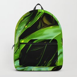 Abstract dark green leaves summer plant Backpack
