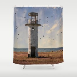 Sunny afternoon at the estonian coast Shower Curtain