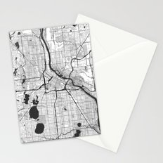 Minneapolis Map Gray Stationery Cards