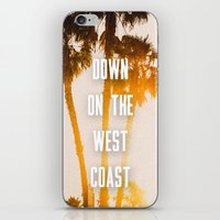 west coast iPhone & iPod Skins featuring WEST COAST by Jack Stobart