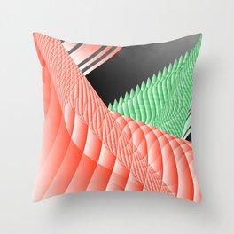 peachy grass plant Throw Pillow