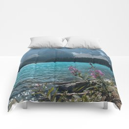 Lake Moraine Fireweed Comforters