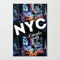 NEW-YORK (LIBERTEE CITY) Canvas Print
