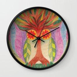 Trè,é Owl Wall Clock