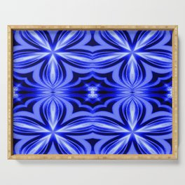 Electric Blue Pattern Serving Tray