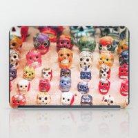 sugar skulls iPad Cases featuring Sugar Skulls by Jenndalyn
